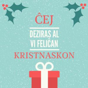 Česká esperantská mládež Vám přeje veselé Vánoce
